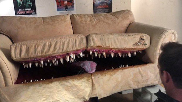 31 Best Memes and Funny Pics That'll Wet Your Eyeballs ~ monster couch sofa