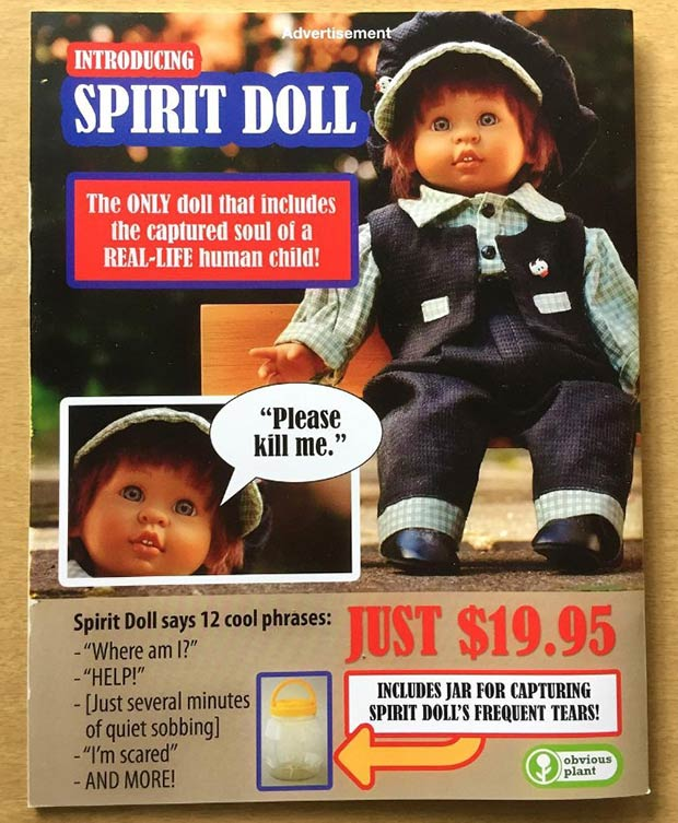 31 Hilarious Fake Toys Planted in Stores ~ spirit doll