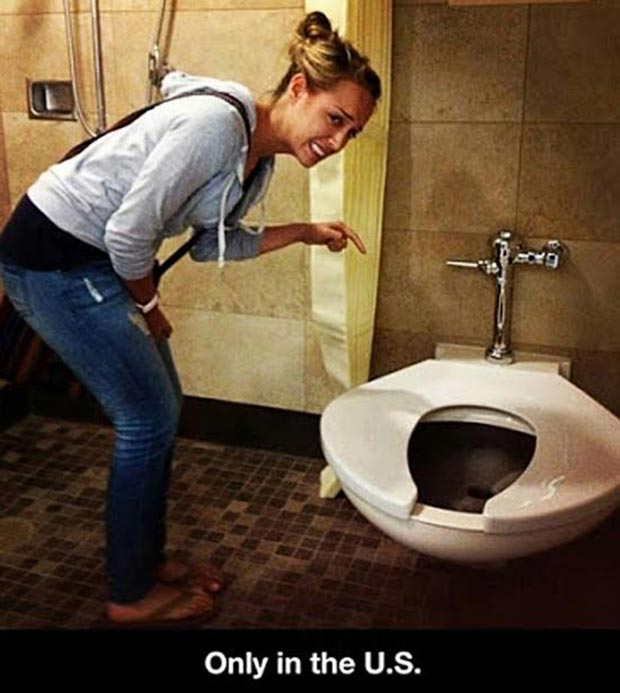 35 Funniest Memes and Random Pics That'll Twerk Your Humor ~ only in America, USA, giant toilet seat