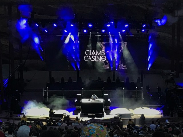 Clams Casino performs at the world-renowned Red Rocks Amphitheater in Colorado
