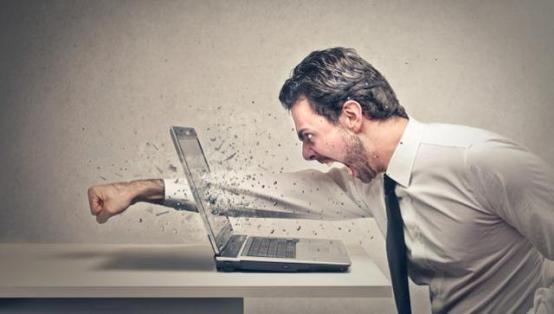 angry at computer