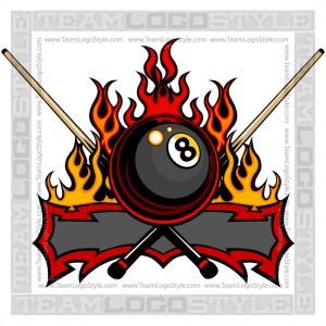 Eight Ball Flame Logo Vector Logo Eight Ball