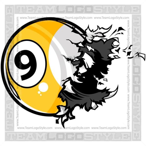 Nine Ball Exploding Clipart