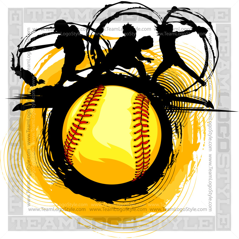 fast pitch softball design vector clipart players rh teamlogostyle com Fastpitch Softball Silhouette Fastpitch Softball Silhouette
