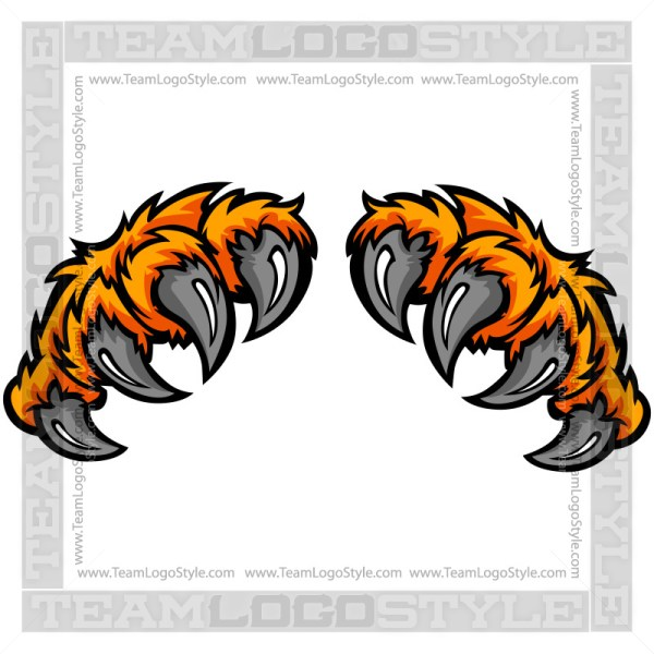 clip art tiger claw vector clipart tiger