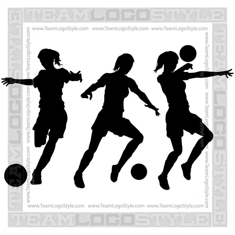 girls soccer clipart vector clipart girls playing soccer rh teamlogostyle com girl soccer clipart black and white girl soccer clipart black and white