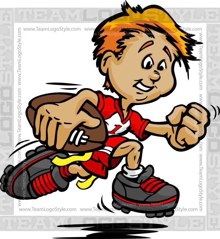 flag football player vector clipart little boy rh teamlogostyle com female flag football clipart Flag Football Logo