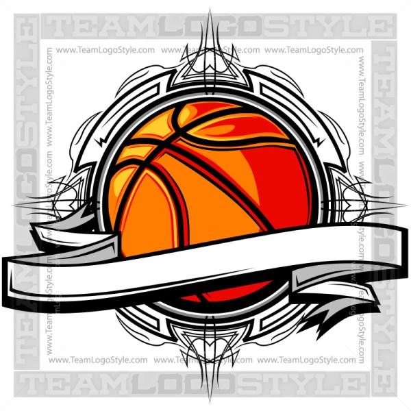 Basketball Clipart - Vector Clipart Banner Design