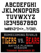 Athletic School Font - Homecoming Rival - Glyphs