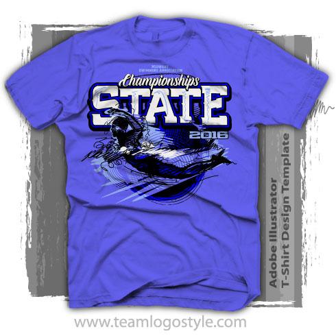 e45ea3f71 State Swimming Shirt Design With Sketch Graphic