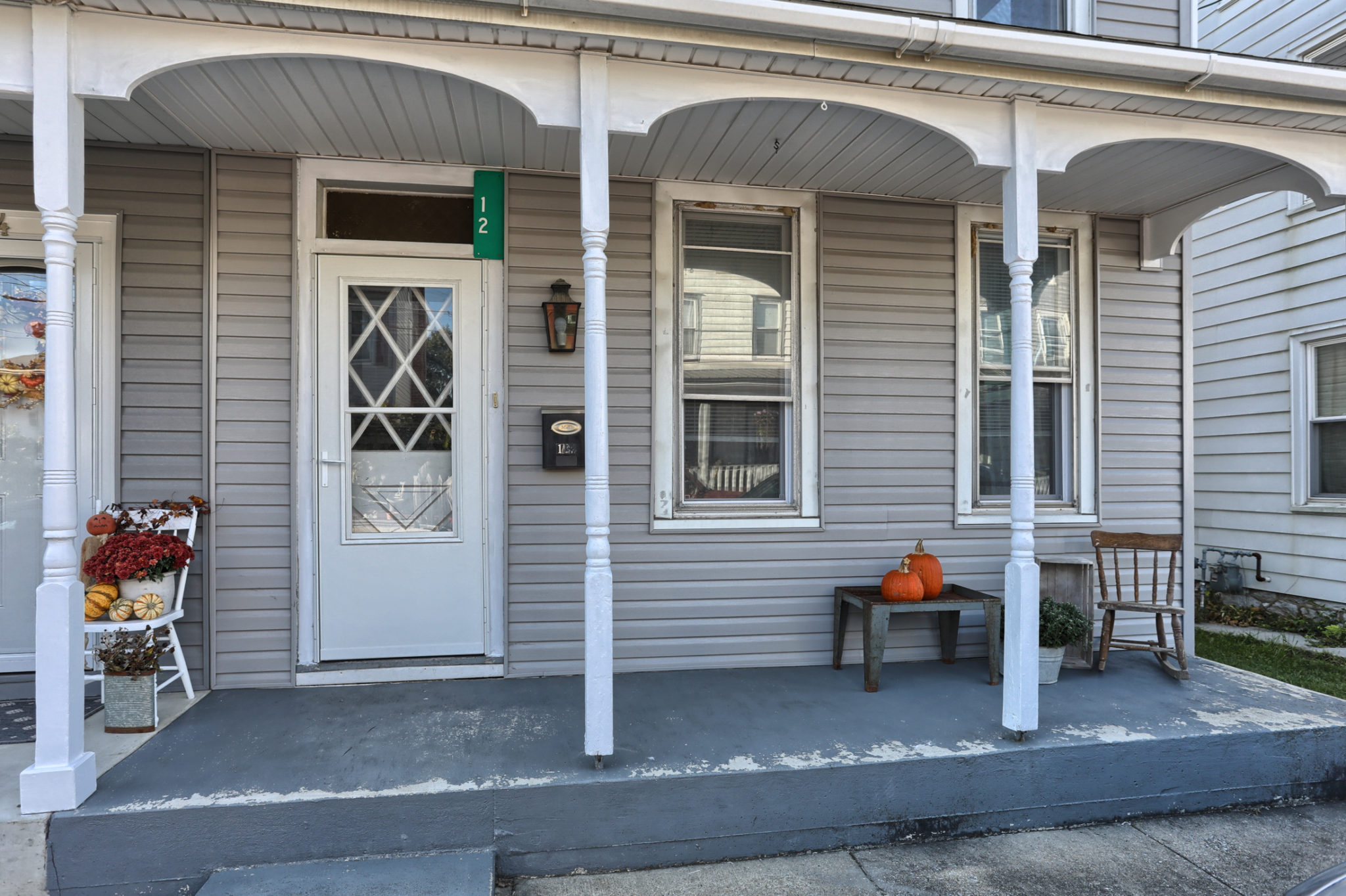 12 E. Maple Avenue - front porch welcomes you to this myerstown home