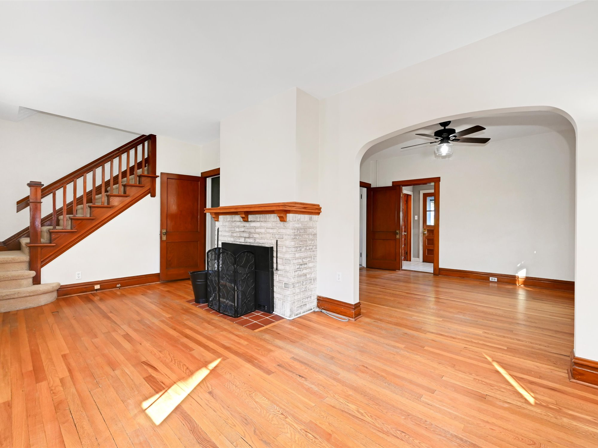 111 Pine Street - Living Room and Fireplace