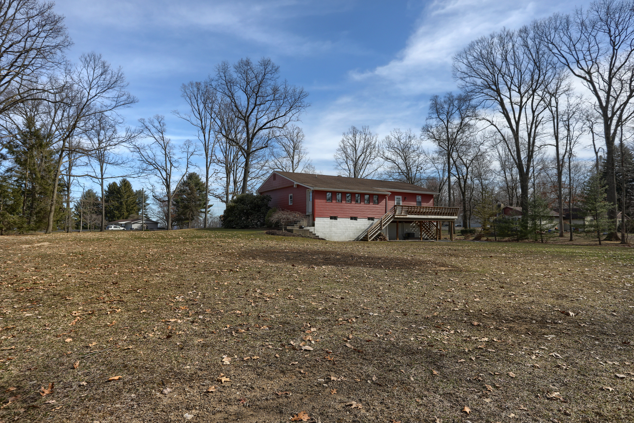 285 Strack Drive - Back of Home with quiet wooded setting