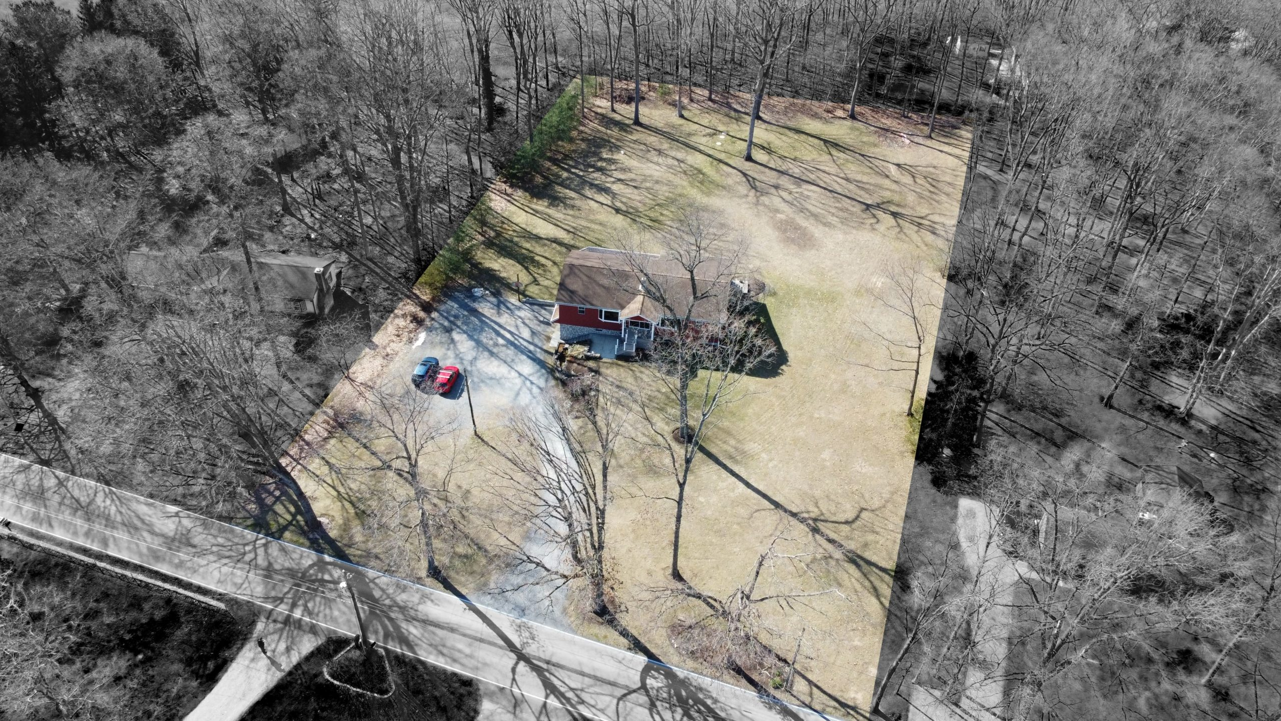 285 Strack Drive - Quiet Wooded Setting Aerial Shot 1