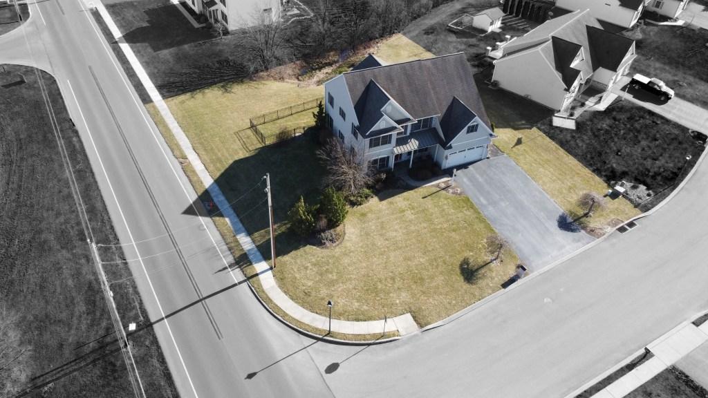 Aerial view of spacious Cedar Crest Home - 2000 Mallard Lane