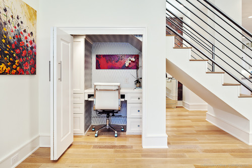Transitional Home Office | Photo by M Prevost Design | Search home office ideas via Houzz