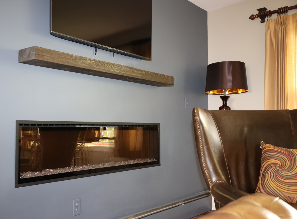 1 Brandthaven Drive - Electric fireplace in stone stately home