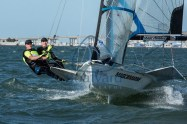 Big winds on the first day of the Miami World Cup. Finished 2nd in this Race.