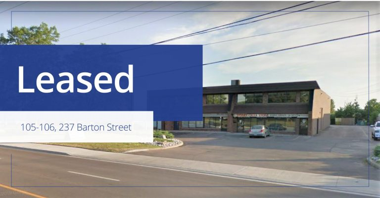 237 Barton Street - Leased - Colliers
