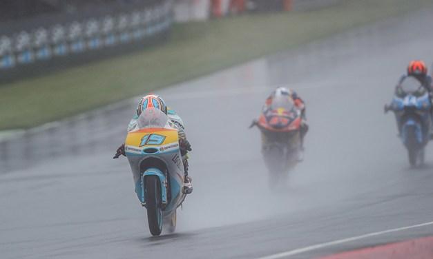 Rodrigo acaba en los puntos en una carrera complicada bajo la lluvia