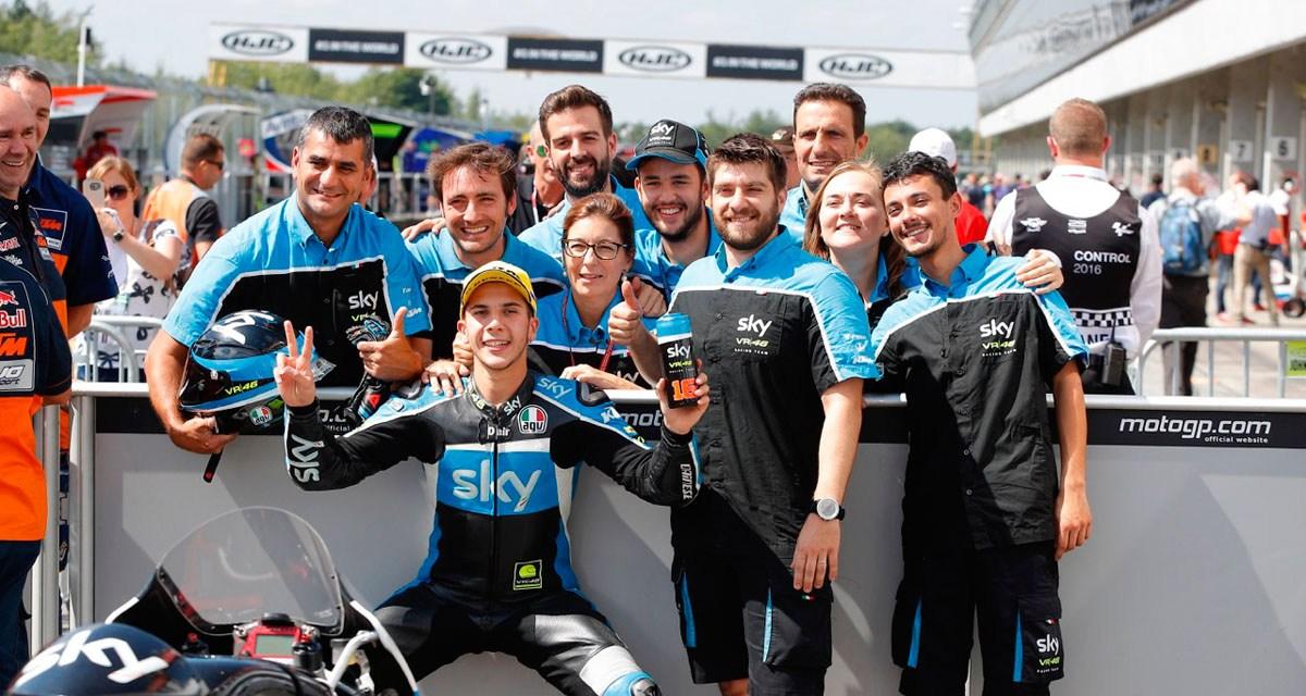 Primera y segunda fila para el Sky Racing Team VR46 en Brno