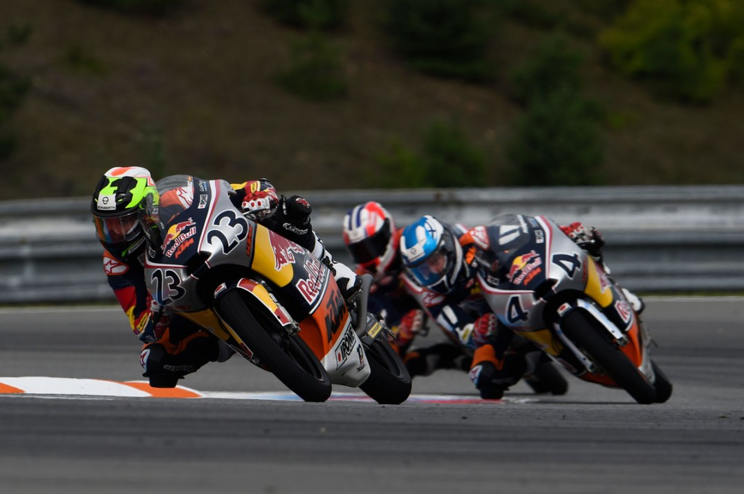 BRNO,CZECH REPUBLIC,21.AUG.16 - MOTORSPORTS, MOTORBIKE - Red Bull Rookies Cup, Grand Prix of the Czech Republic, Automotodrom Brno. Image shows Raul Fernandez (ESP). Photo: GEPA pictures/ Gold and Goose/ Gareth Harford - For editorial use only. Image is free of charge.