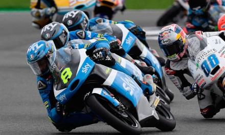 Dura lucha del Sky Racing Team VR46 en Silverstone