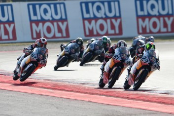 Rufino Florido, Kaito Toba in the air in the background, Red Bull Rookies Cup Race, San Marino MotoGP 10th September 2016
