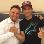 Fabio DI Giannantonio y Jorge Martín juntos en 2017 con Gresini Racing Team Moto3