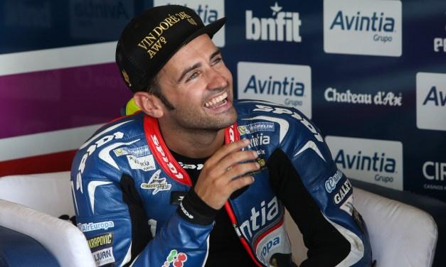 El piloto de Avintia Racing Héctor Barberá con Ducati Team en Motegi