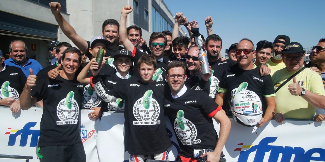 Iván Ortolá y el MRW Junior Aspar Team, campeones de España