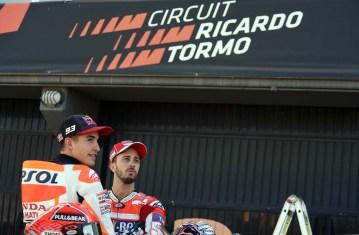 Marc Márquez, Andrea Dovizioso, Circuit Comunitat Valenciana, teammotofans.com