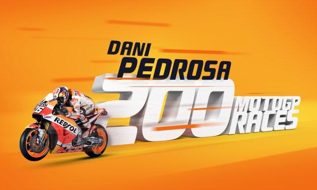 Dani Pedrosa alcanza las 200 carreras en MotoGP
