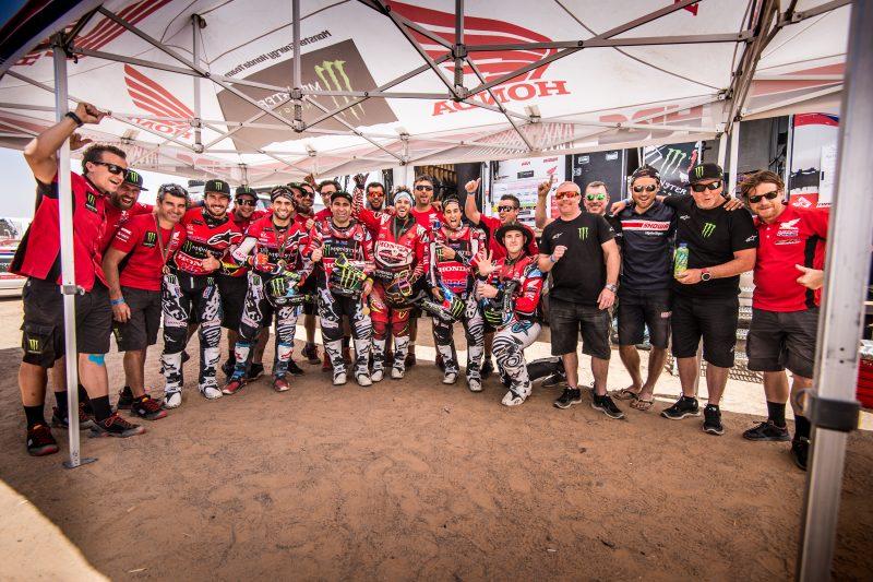 Victoria final de Joan Barreda y segundo puesto de Kevin Benavides: doblete del Monster Energy Honda Team en el Merzouga Rally