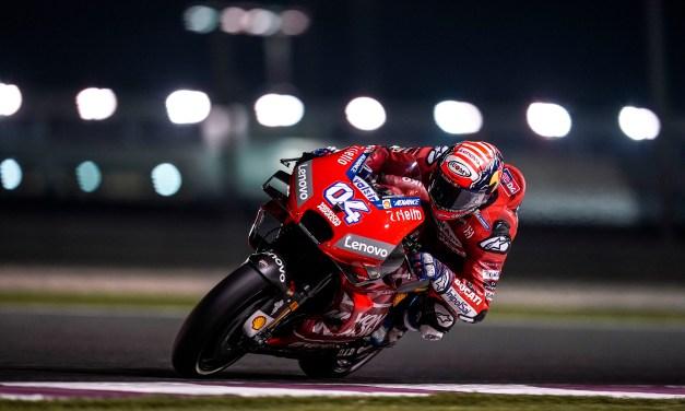 El Mission Winnow Ducati cierra la primera jornada de test en Qatar con Dovizioso tercero y Petrucci cuarto