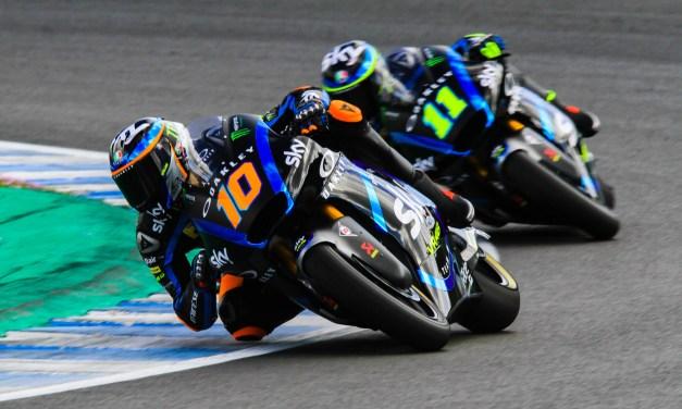 Luca Marini y Gabriel Rodrigo los más rápidos en los test privados de Jerez