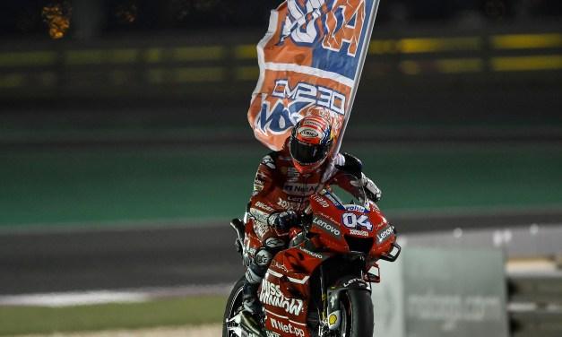 Espléndida victoria de Dovizioso en Losail con la Desmosedici GP del Mission Winnow Ducati
