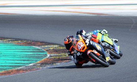 Hugo Marín tercero en PreMoto3 en el ESBK de Valencia