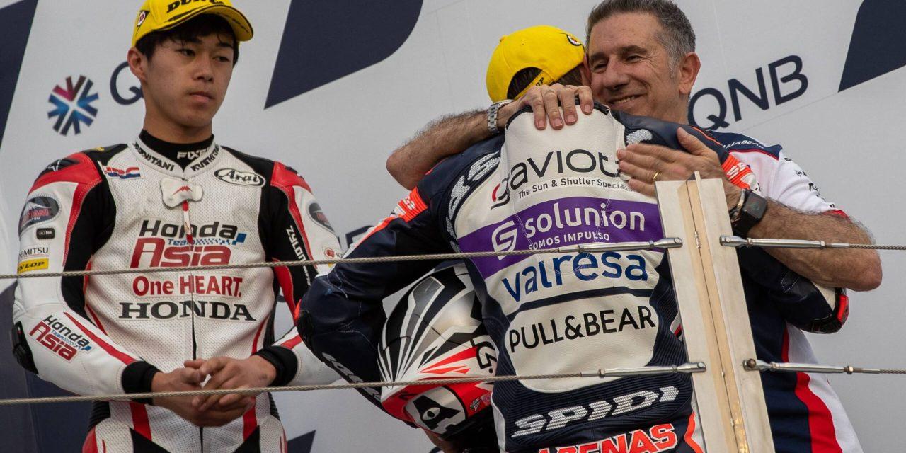 Albert Arenas: el líder de Moto3 se prepara en casa y analiza su victoria en Qatar