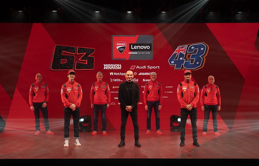 Brillante rojo del Ducati Lenovo Team 2021