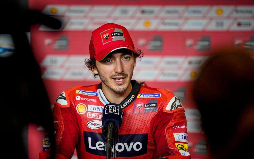 Impresionante pole position y nuevo récord de vuelta de todos los tiempos para Pecco Bagnaia. Quinta plaza para Jack Miller