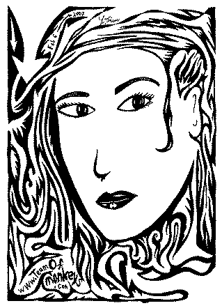 gwen stephani maze portrait