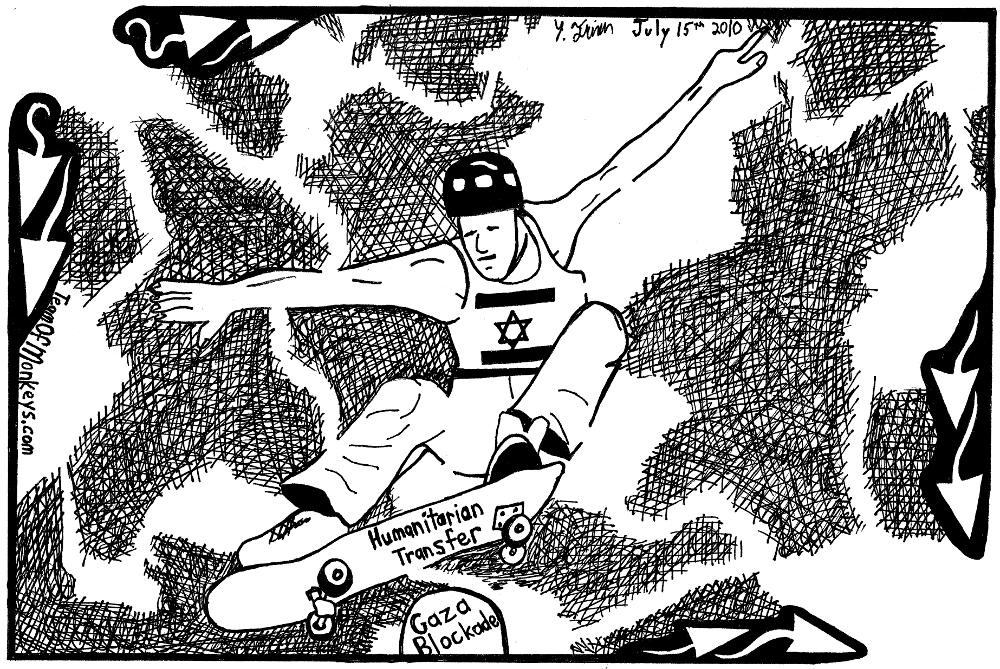 maze cartoon skateboard politics
