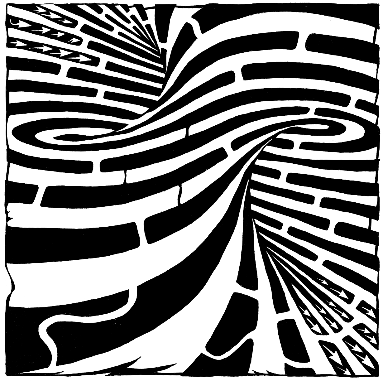 forming tornado maze, the twisted and warped maze by Yonatan Frimer