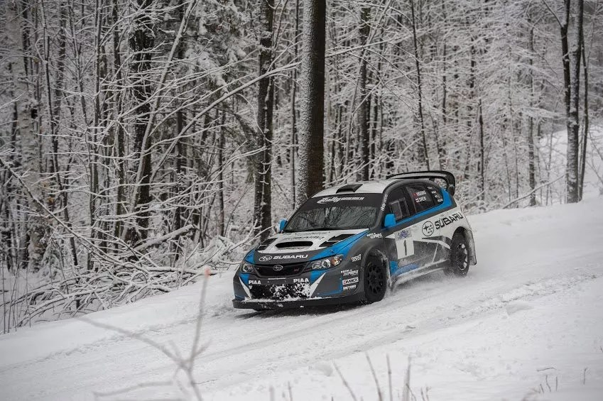 subaru wrx sti rally car racing team us winter driving school