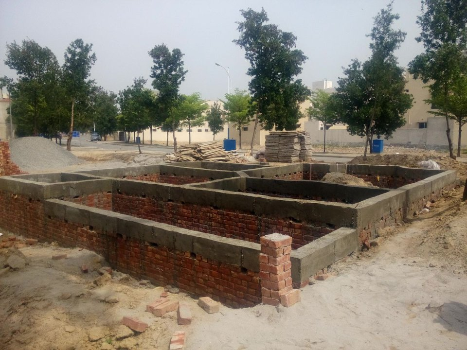 construction cost house foundations plinth beam 5 marla bahria nasheman