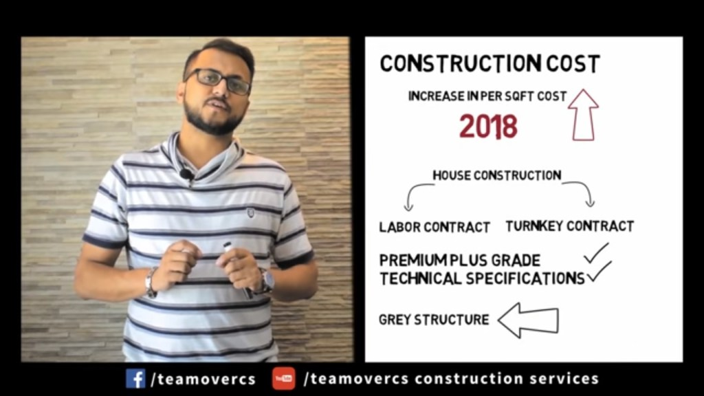 latest grey structure cost 2018 house construction