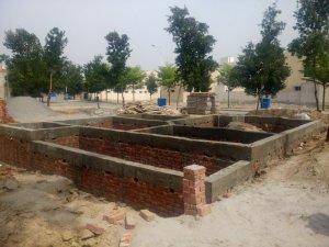 5 marla house bahria nasheman grey structure