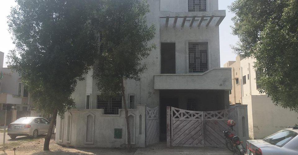 5 marla house Bahria nasheman grey structure brick work