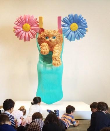 Jeff Koons, b. 1955. Cat on a clothesline, 1994-2001.